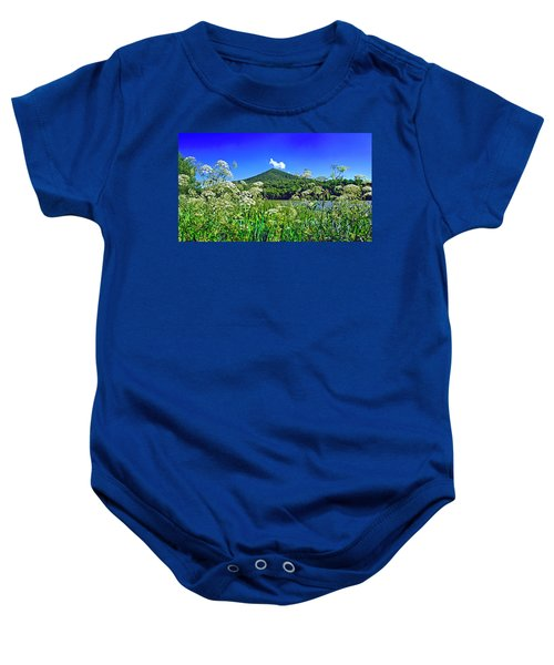 Queen Anne's Lace, Peaks Of Otter  Baby Onesie