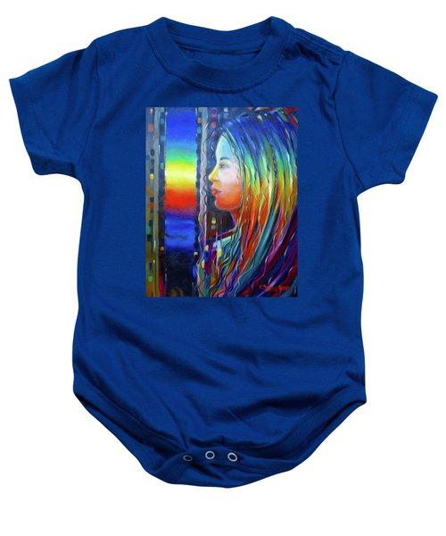 Rainbow Girl 241008 Baby Onesie