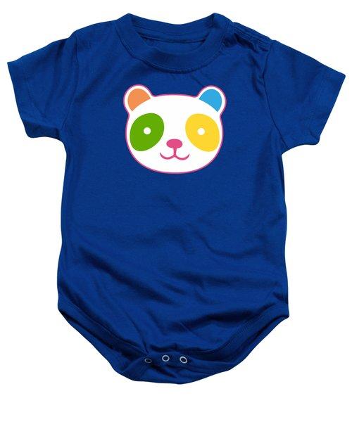 Rainbow Panda Baby Onesie by Julia Jasiczak