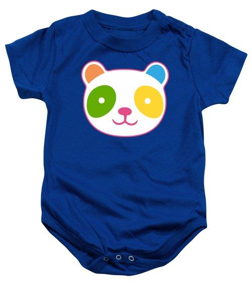 Rainbow Panda Baby Onesie