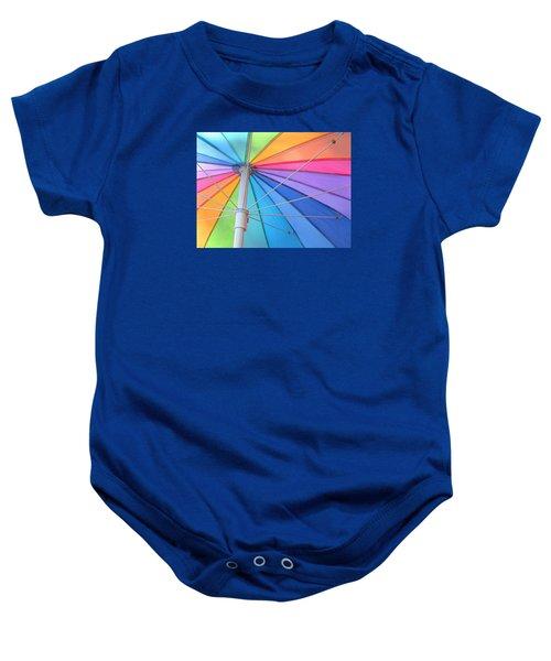 Rainbow Umbrella Baby Onesie