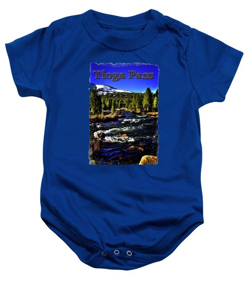 Rapids Along The Tioga Pass Road Baby Onesie by Roger Passman