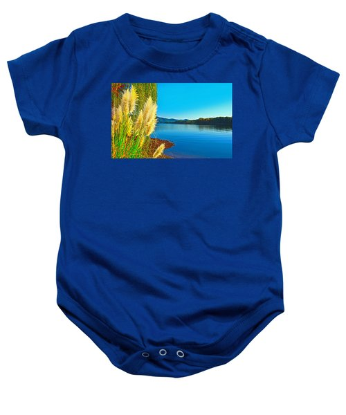 Ravenna Grass Smith Mountain Lake Baby Onesie