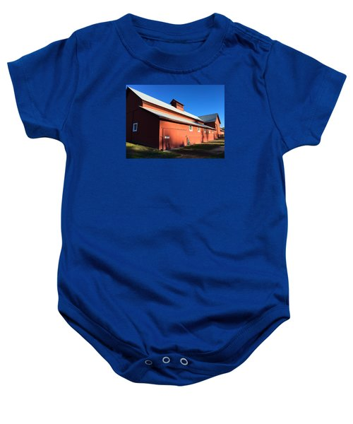 Red Barn, Blue Sky Baby Onesie