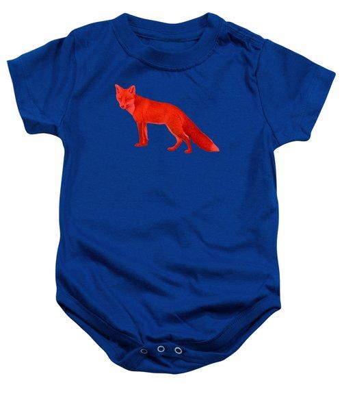 Red Fox Forest Baby Onesie