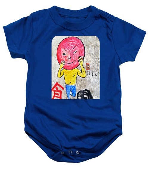 Red Head In Blue Tights Baby Onesie