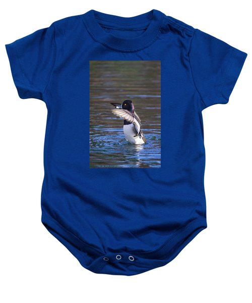 Ring-necked Duck Wings Up Baby Onesie