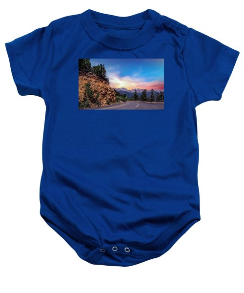 Rocky Mountain High Road Baby Onesie