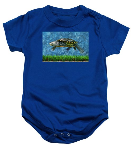 Rodney The Diamondback Terrapin Turtle Baby Onesie