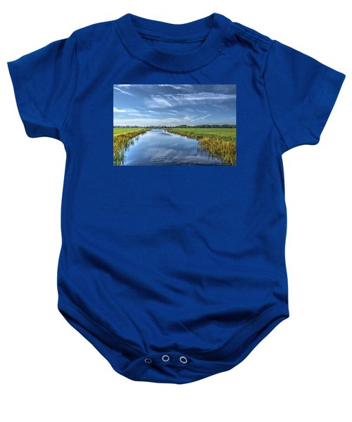 Royal Canal And Grasslands Baby Onesie