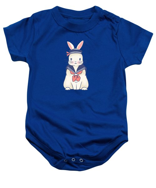 Sailor Bunny At The Beach Baby Onesie