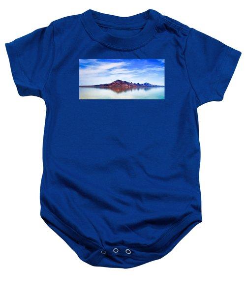 Salt Lake Mountain Baby Onesie