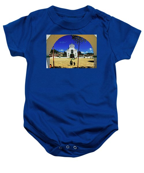 Baby Onesie featuring the photograph San Juan Chamula Church In Chiapas, Mexico by Sam Antonio Photography