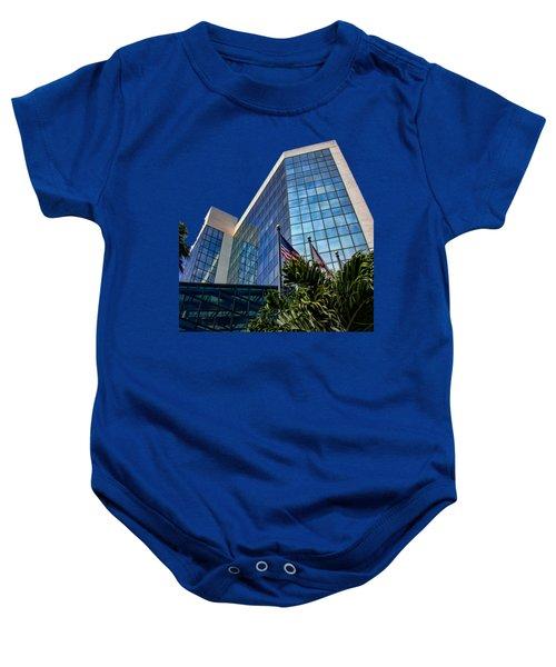 Sarasota Architecture Glass Transparency Baby Onesie