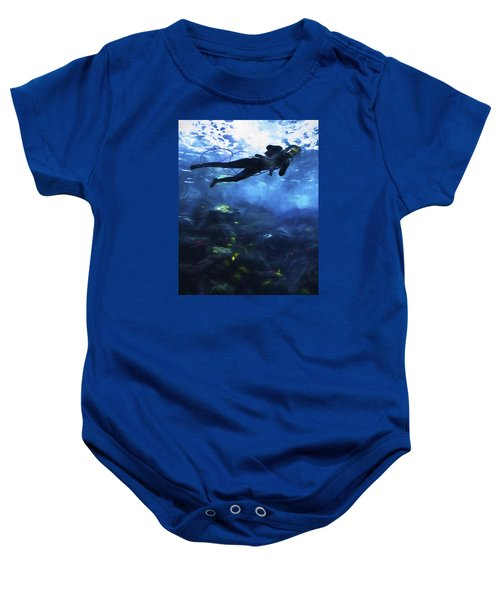 Scuba Diver Baby Onesie