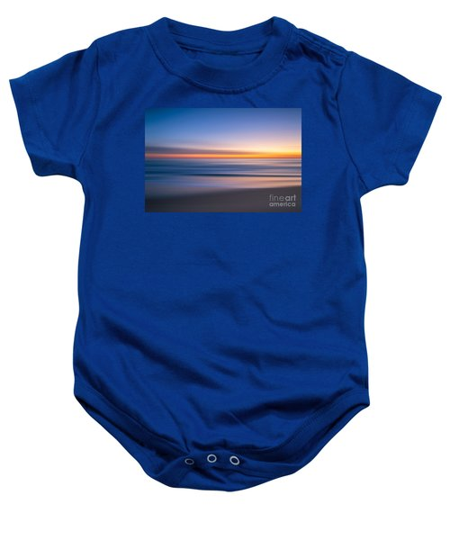 Sea Girt New Jersey Abstract Seascape Sunrise Baby Onesie