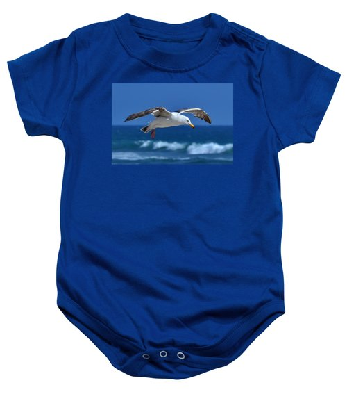 Seagull In Flight Baby Onesie