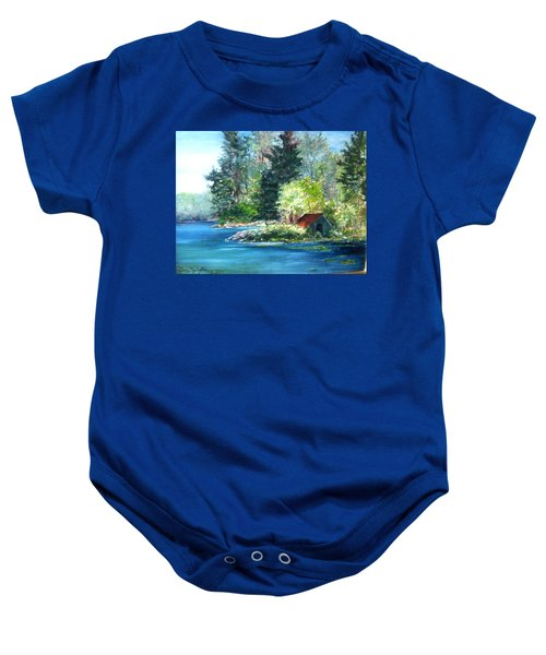 Secluded Boathouse-millsite Lake  Baby Onesie