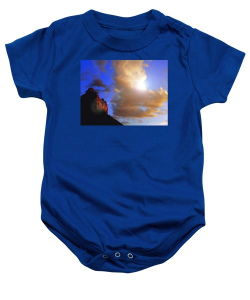 Sedona Mountain Cloud Sun Baby Onesie