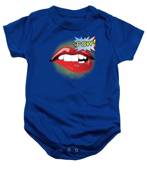 Sexy Vibrant Pop Art Lips Baby Onesie