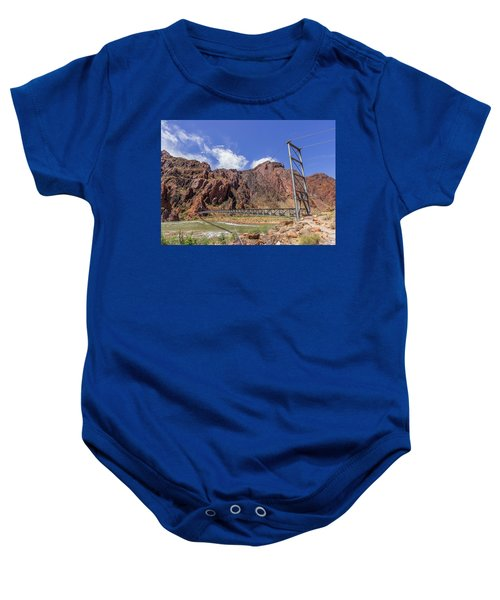 Silver Bridge Over Colorado River - At The Bright Angel Trail Baby Onesie