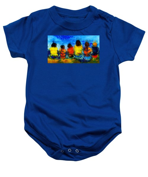 Six On The Shore  Baby Onesie