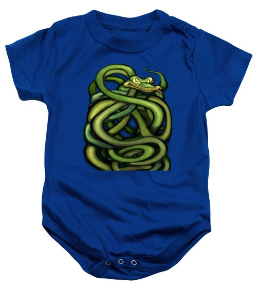 Snakes Baby Onesie by Kevin Middleton