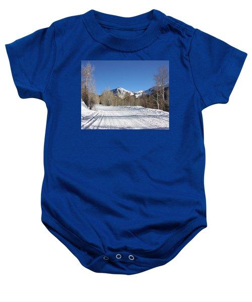 Snowy Aspen Baby Onesie
