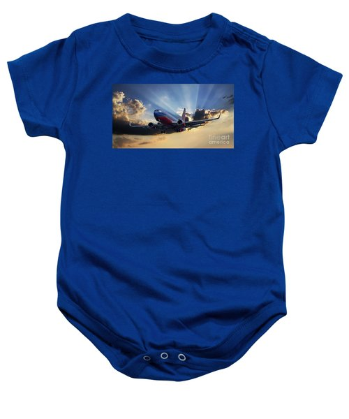 Southwest Dramatic Rays Of Light Baby Onesie