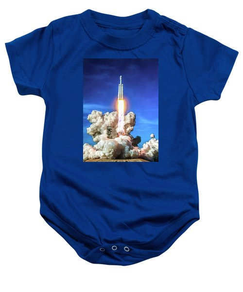 Spacex Falcon Heavy Rocket Launch Baby Onesie
