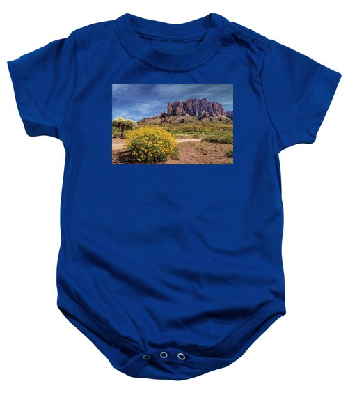 Springtime In The Superstition Mountains Baby Onesie