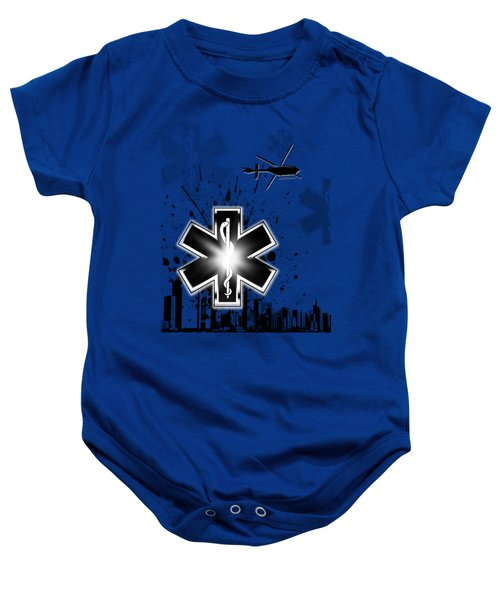 Star Of Life Graphic Baby Onesie by Melissa Smith