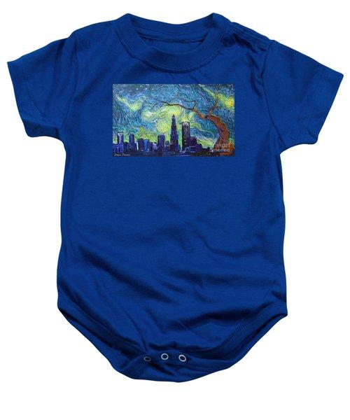 Starry Night Over The Queen City Baby Onesie
