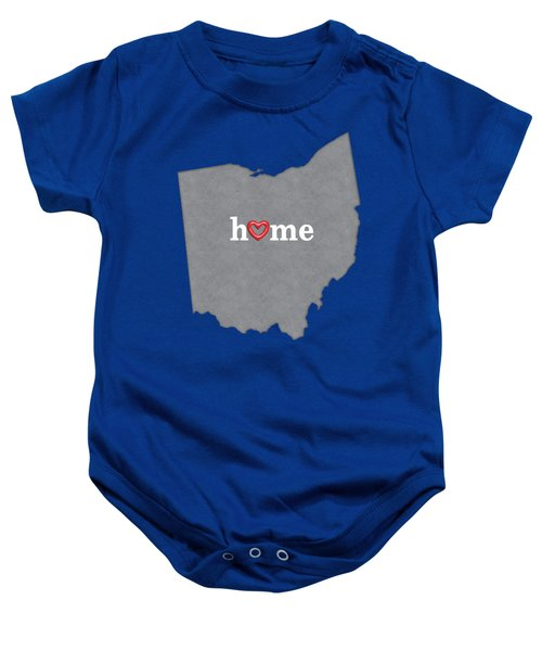 State Map Outline Ohio With Heart In Home Baby Onesie