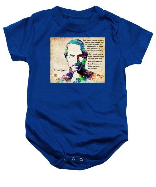 Steve Jobs Portrait Baby Onesie