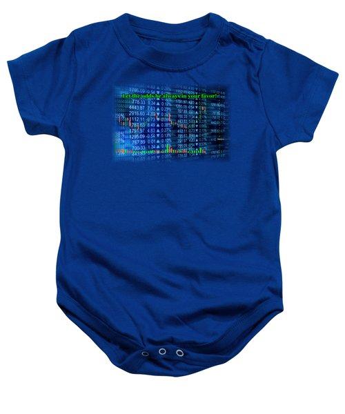 Stock Exchange Baby Onesie