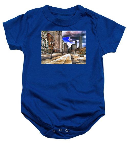 Streets Of Chicago Baby Onesie