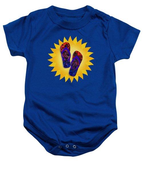Summer Sunshine And Red Flip-flops     Baby Onesie