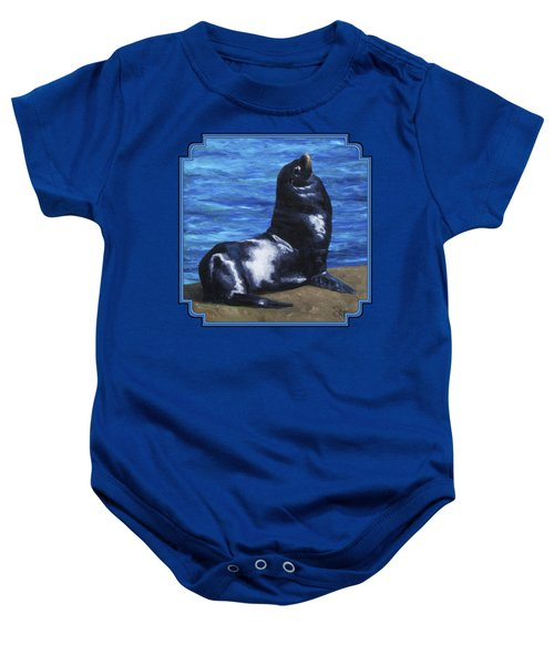 Sun Bathing Sea Lion Baby Onesie