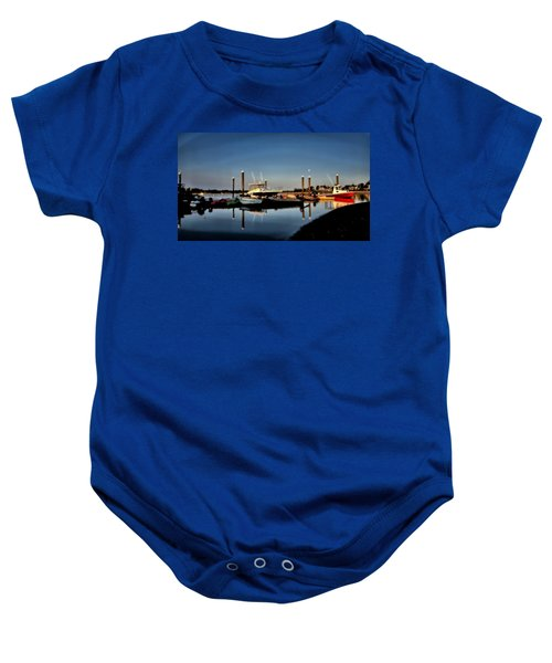 Sunny Morning At Onset Pier Baby Onesie