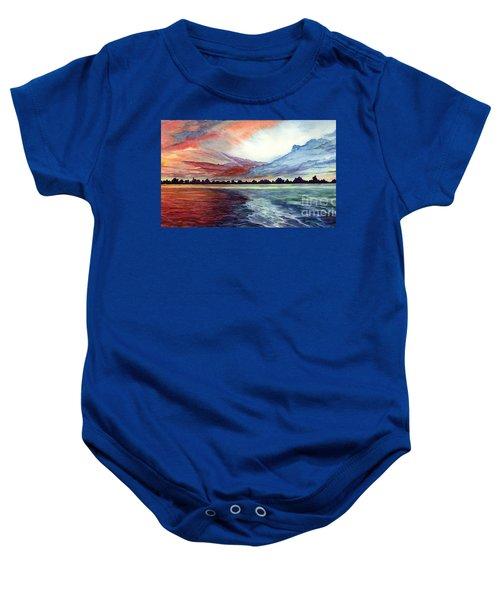 Sunrise Over Indian Lake Baby Onesie
