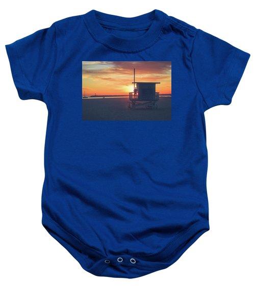 Sunset At Toes Beach Baby Onesie