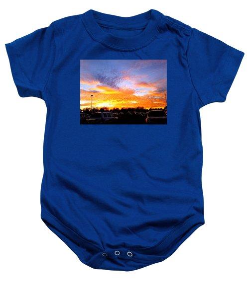 Sunset Forecast Baby Onesie