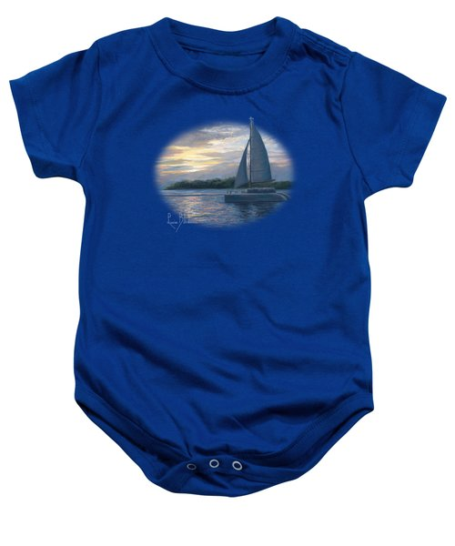 Sunset In Key West Baby Onesie by Lucie Bilodeau