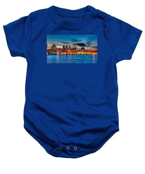 Sunset Over Philadelphia Baby Onesie