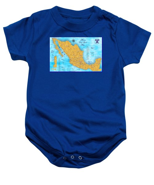 Mexico Surf Map  Baby Onesie