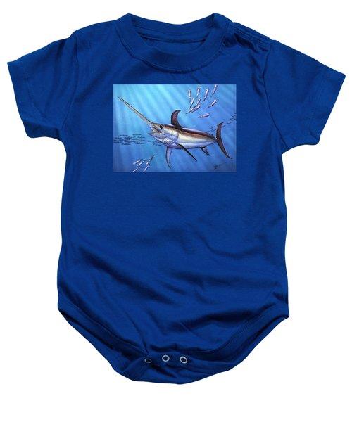 Swordfish In Freedom Baby Onesie