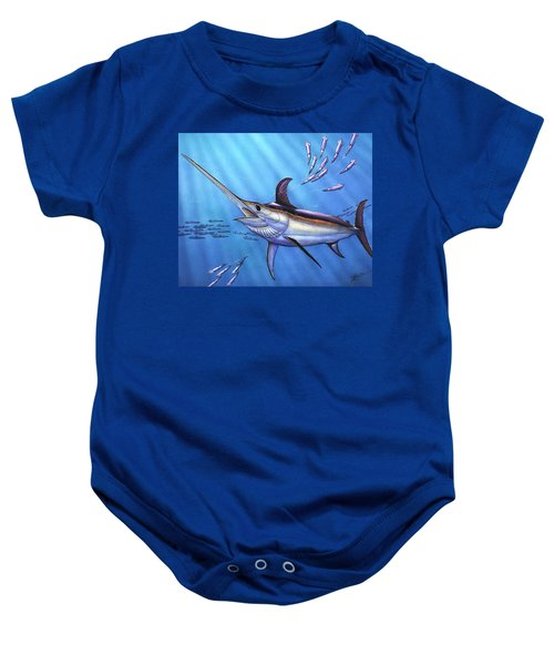 Swordfish In Freedom Baby Onesie
