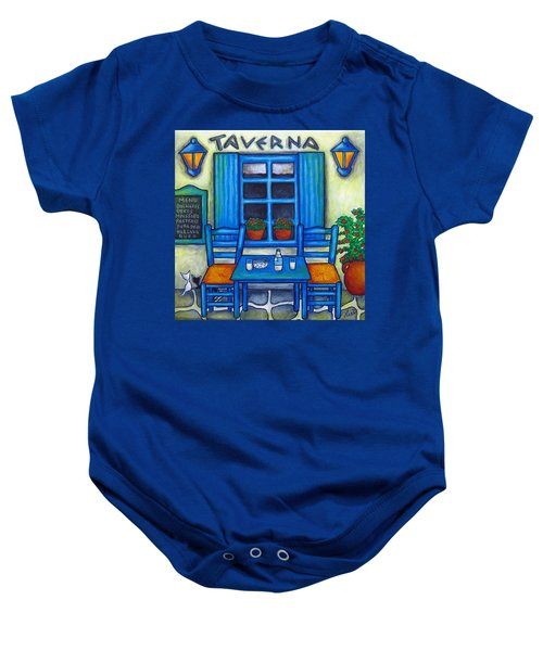 Table For Two In Greece Baby Onesie