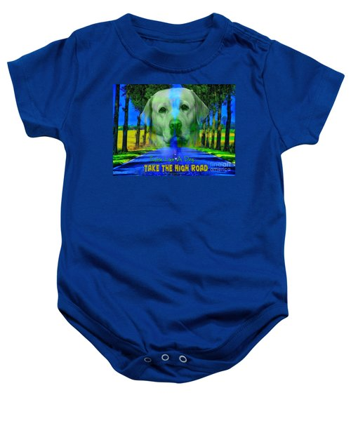 Take The High Road Baby Onesie